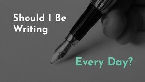 writing every day as an author
