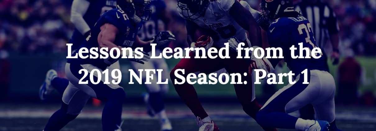 NFL super bowl lessons