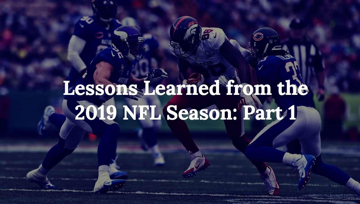 NFL super bowl lessons